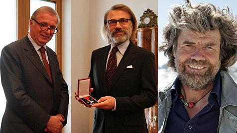 Warum Waltz dem Messner neuerdings ähnlich sieht (Bild: Österreichische Botschaft Berlin, AP)