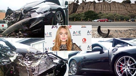 Lindsay Lohan nach Autounfall verletzt im Krankenhaus (Bild: AP)