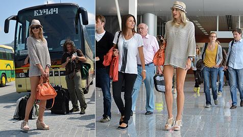 Fußballer und ihre sexy Glücksbringer bei der EM 2012 (Bild: dapd)
