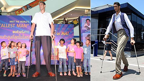 Größter Mann der Welt hat eine Freundin gefunden (Bild: EPA)