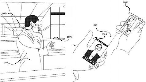 Microsoft will Patent für zweiteiliges Smartphone (Bild: Microsoft)