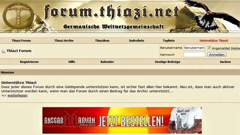 """Fünf Jahre Haft für Moderator von """"Thiazi-Forum"""" (Bild: Screenshot forum.thiazi.net)"""