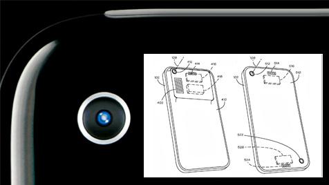 Apple reicht Patent für Handy mit Wechselobjektiv ein (Bild: AP, appft.uspto.gov, krone.at-Grafik)