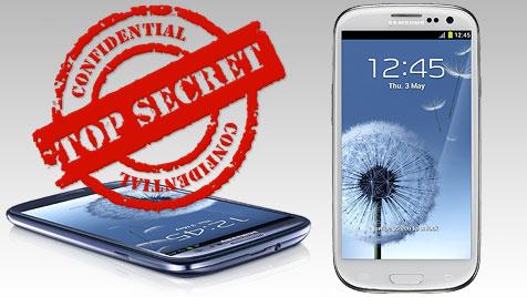 So konnte Samsung sein Galaxy S III geheim halten (Bild: thinkstockphotos.de, Samsung, krone.at-Grafik)