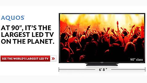 Sharp stellt größten LED-Fernseher der Welt vor (Bild: Sharp)