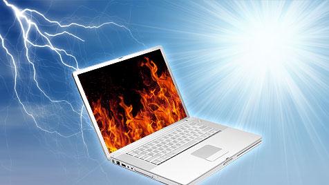 So rettest du deine Festplatte vor Hitze und Gewitter (Bild: thinkstockphotos.de, krone.at-Grafik)