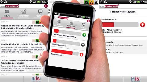 Gratis-App für mehr Sicherheit im Internet (Bild: thinkstockphotos.de, it-sicherheit.de, krone.at-Grafik)