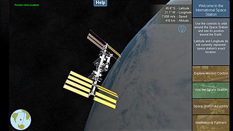 App bringt Live-Infos der ISS auf PC, Handy & Tablet (Bild: spacestationlive.nasa.gov)