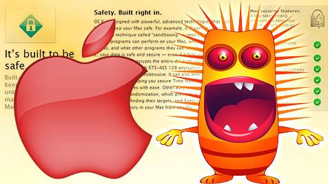 Apple gibt offiziell zu: Macs nicht immun gegen Viren (Bild: thinkstockphotos.de, apple.com, krone.at-Grafik)
