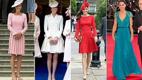 Kate: 35.000 Pfund im halben Jahr für Kleider ausgegeben (Bild: APF, dapd)