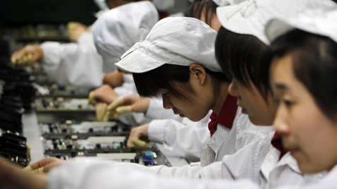 Apple erneut wegen Arbeitsbedingungen in der Kritik (Bild: AP)