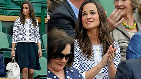 Ein Ass! Pippa perfekt gestylt in Wimbledon (Bild: AP, EPA)