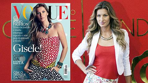 """Gisele Bündchen mit Babybauch auf """"Vogue""""-Cover (Bild: EPA, Vogue)"""