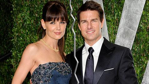 Tom Cruise und Katie Holmes lassen sich scheiden (Bild: AP)