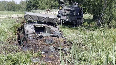 Nach Panzer-Unfall in NÖ: Unteroffizier bleibt im Dienst (Bild: Bundesheer/Zach)
