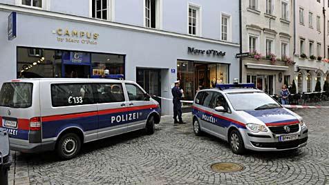 Juwelier in Wels von bewaffneter Bande überfallen (Bild: Markus Wenzel)