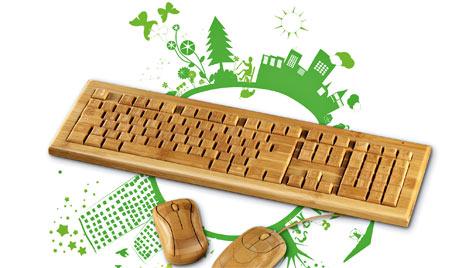 Hama bringt Öko-Eingabegeräte aus Bambus ins Büro (Bild: Hama)