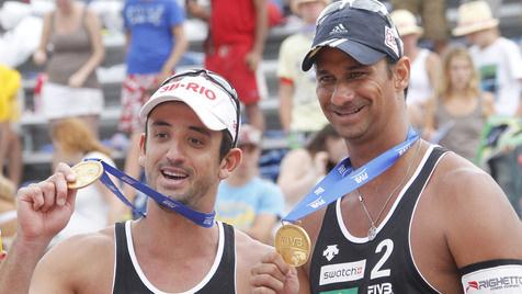 Alle Gewinner des Grand Slams in Klagenfurt (Bild: APA/GERT EGGENBERGER)