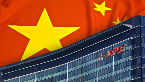 Netzwerke infiltriert: Spioniert Huawei für China? (Bild: Huawei, thinkstockphotos.de, krone.at-Grafik)