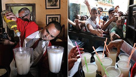 """275 Liter: Kubaner mixen """"größten Daiquiri der Welt"""" (Bild: EPA)"""