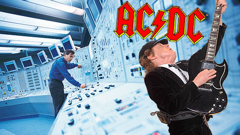 Iran: Hacker lassen AC/DC in AKWs erschallen (Bild: thinkstockphotos.de, EPA, acdc.com, krone.at-Grafik)
