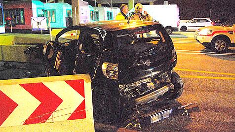 Bremsmanöver vor Mautstelle fordert Schwerverletzten (Bild: FF St. Michael/Holitzky)