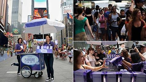 """Pleasure Carts"": Gratis-Vibratoren legten NY lahm (Bild: Facebook/Trojan/AFP)"