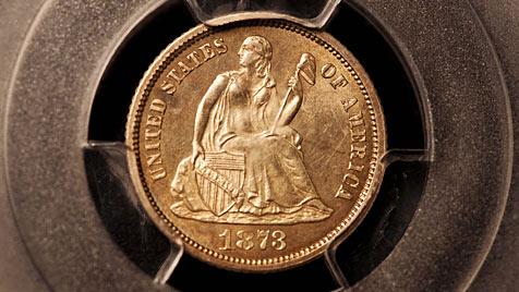 Sammler zahlt 1,6 Millionen Dollar für Zehncentmünze (Bild: AP)
