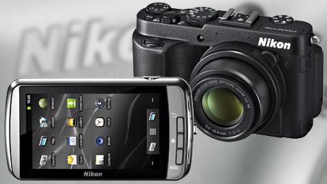 Nikon mit Android-Kamera und neuem Spitzenmodell (Bild: Nikon, krone.at-Grafik)