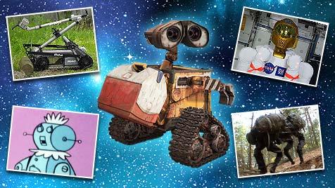 """Wer soll in die """"Hall of Fame"""" der Roboter? (Bild: robothalloffame.org, Disney, thinkstockphotos.de)"""