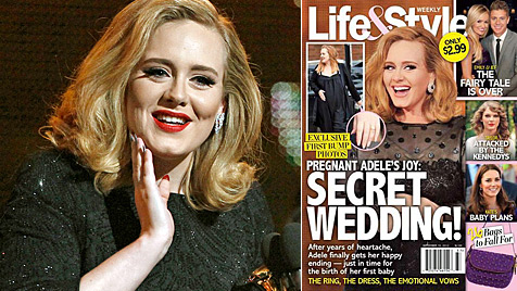 Ist Sängerin Adele etwa schon längst verheiratet? (Bild: dapd, Life&Style)