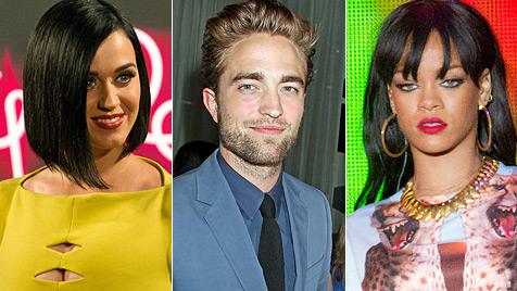 Katy Perry und Rihanna buhlen um Robert Pattinson (Bild: EPA, dapd)