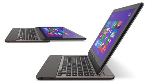 Toshiba zeigt Tablet mit ausziehbarer Tastatur (Bild: Toshiba)