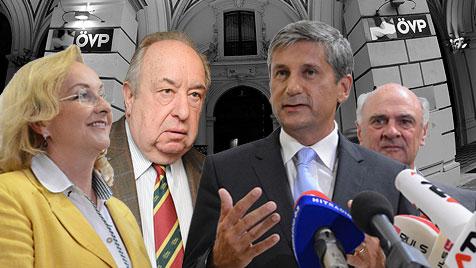 ÖVP weiter von Machtkämpfen und Intrigen gezeichnet (Bild: APA, krone.at-Grafik)