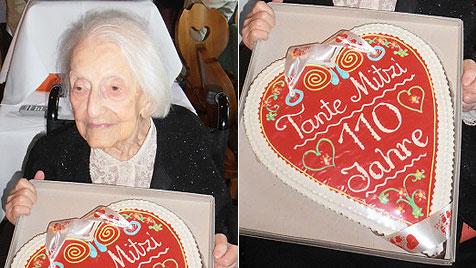 """110. Geburtstag: """"Sind so stolz auf unsere Tante Mitzi"""" (Bild: Bony Fischer)"""