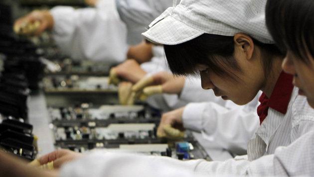 Mangelhafte Bedingungen bei Samsung-Fertigern (Bild: AP)