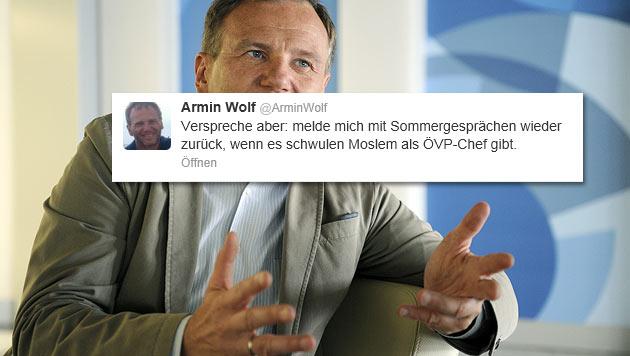 Wolf macht weiter, 'wenn schwuler Moslem VP-Chef ist' (Bild: APA/ROLAND SCHLAGER, Screenshot)
