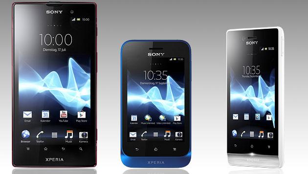 Sony: Doch keine Smartphones mit Windows Phone 8 (Bild: Sony, krone.at-Grafik)