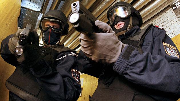 Prügel-Tschetschene von WEGA-Beamten festgenommen (Bild: APA/HANS KLAUS TECHT)
