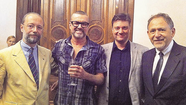 George Michael traf seine Lebensretter vom Wiener AKH (Bild: AKH/Karin Fehringer)