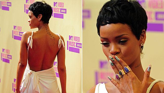 Rihanna mit neuem sexy Pixie bei den MTV VMAs (Bild: AFP)