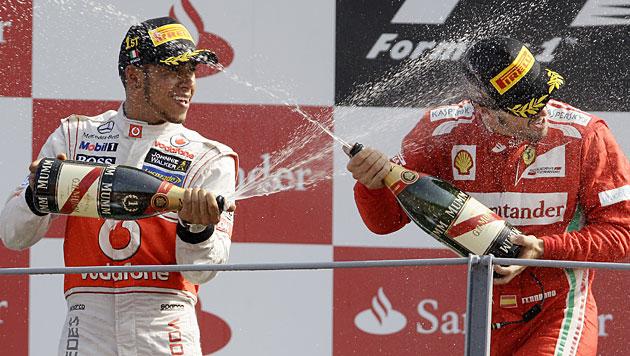 Hamilton gewinnt in Monza vor Perez und Alonso (Bild: dapd)