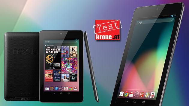 Ab sofort in Österreich: Das Nexus 7 im Test (Bild: Asus, krone.at-Grafik)