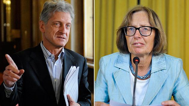 """U-Ausschuss: Cap hält Moser für """"rücktrittsreif"""" (Bild: APA/ROLAND SCHLAGER, APA/HERBERT NEUBAUER)"""