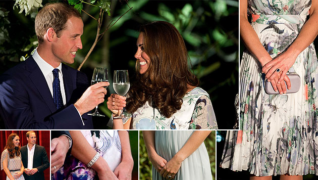 Kate und William: Spekulationen um royalen Babybauch (Bild: AFP, EPA)