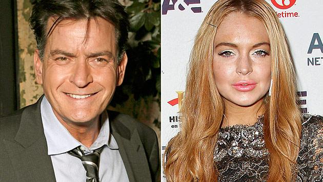 Lindsay Lohan und Charlie Sheen drehen Sex-Szene (Bild: dapd)
