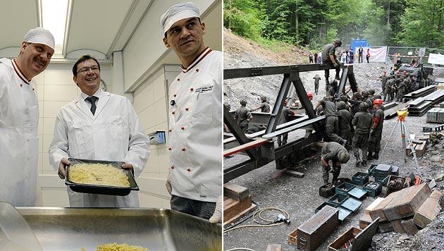 Unser Bundesheer hat mehr Köche als Pioniere (Bild: APA/Andreas Pessenlehner/Stadt Dornbirn/Ralf Hämmerle)
