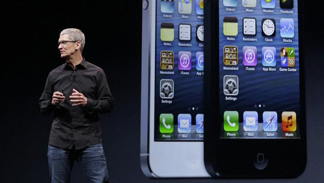 Apple-Chef Tim Cook verdient 99 Prozent weniger (Bild: AP)