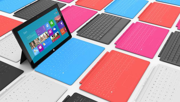 Microsofts Surface-Tablet ähnlich teuer wie Apples iPad (Bild: AP)