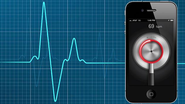 """Cardiio""-App misst Herzschlag per Kamera (Bild: thinkstockphotos.de, cardiio.com, krone.at-Grafik)"